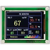 Z-Y Medidores de Calidad de Aire Interior Pantalla LED Home Digital Analizador Oficina del probador del medidor Exacto HCHO COVT Detector de Calidad 3D de convecci/ón de Aire del Monitor