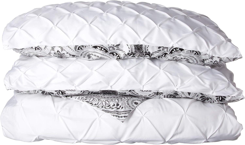 MAI-3DV-KING-OV-WH White King Victoria Classics Maison VCNY Home 3-piece Reversible Pintucked Duvet Cover Set