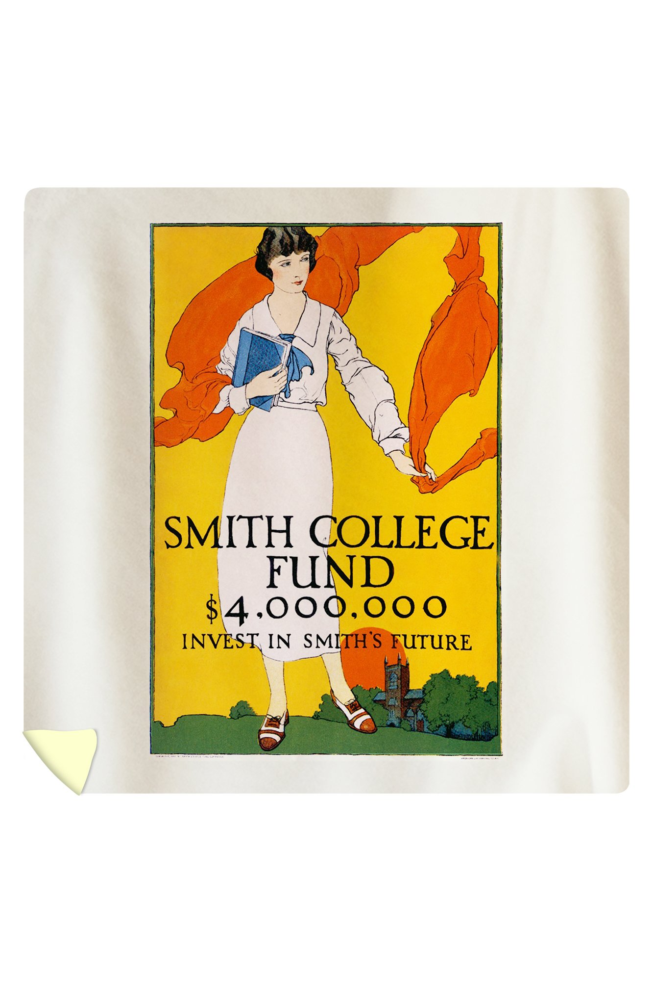 Smith College Fund Vintage Poster USA c. 1920 (88x88 Queen Microfiber Duvet Cover)