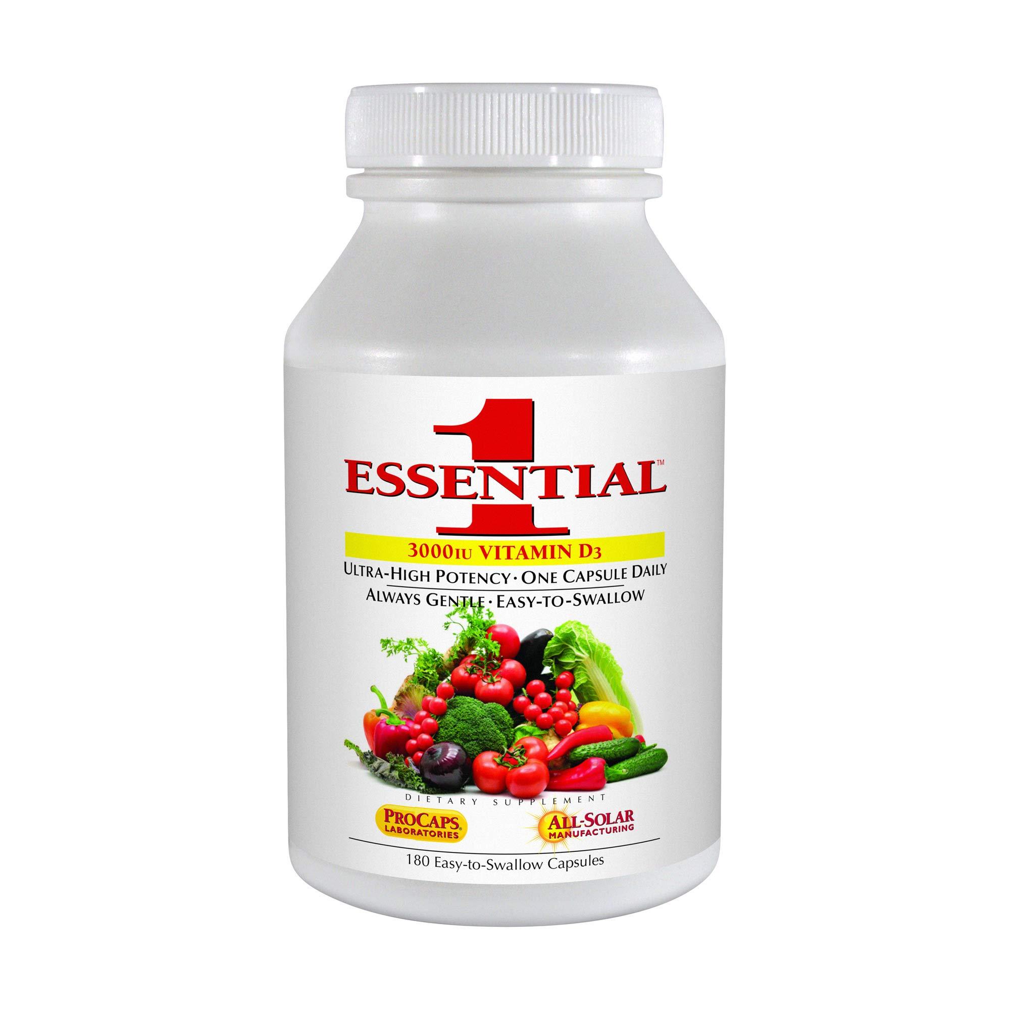 Andrew Lessman Essential-1 with 3000 IU Vitamin D3, 180 Capsules