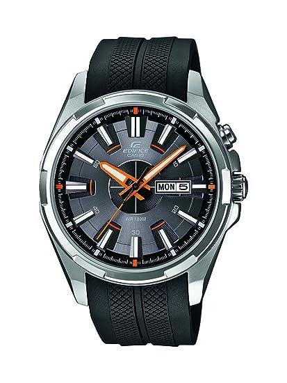Casio Edifice - Reloj de cuarzo para hombre, con correa de plástico, color negro: Amazon.es: Relojes