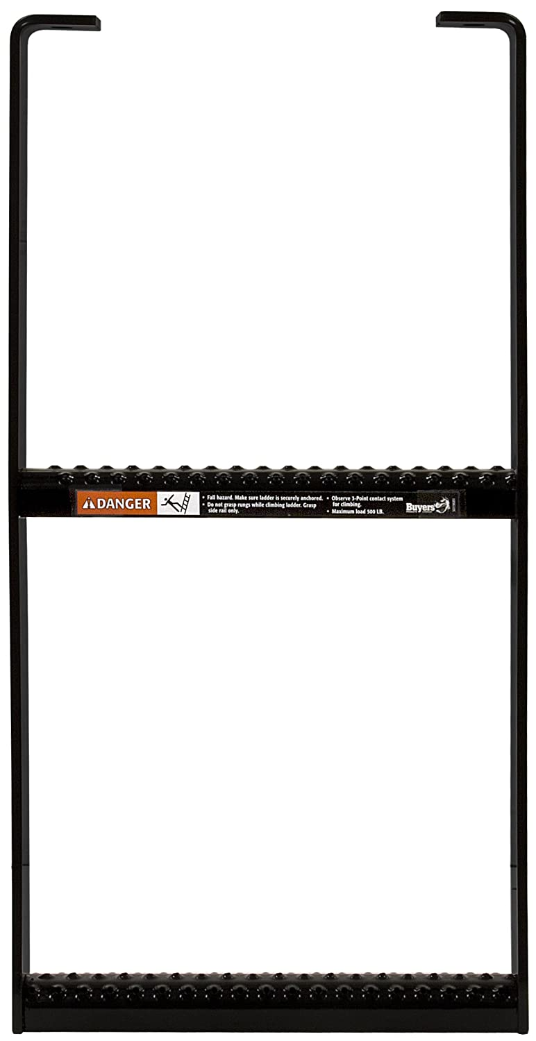 Buyers Products 5232412 Two Rung Step Step,Two Rung,Steel Black Powder Coat