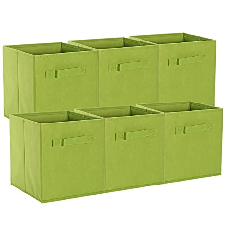 ONu0027H Foldable Cloth Storage Cubes Baskets Box Bins Organizers For Home  Closet Kids Toy
