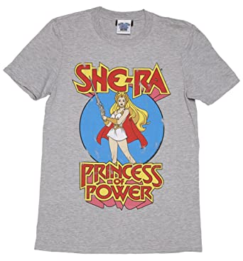 c025c73b417 Mens Grey Marl She Ra Princess Of Power T Shirt  Amazon.co.uk  Clothing