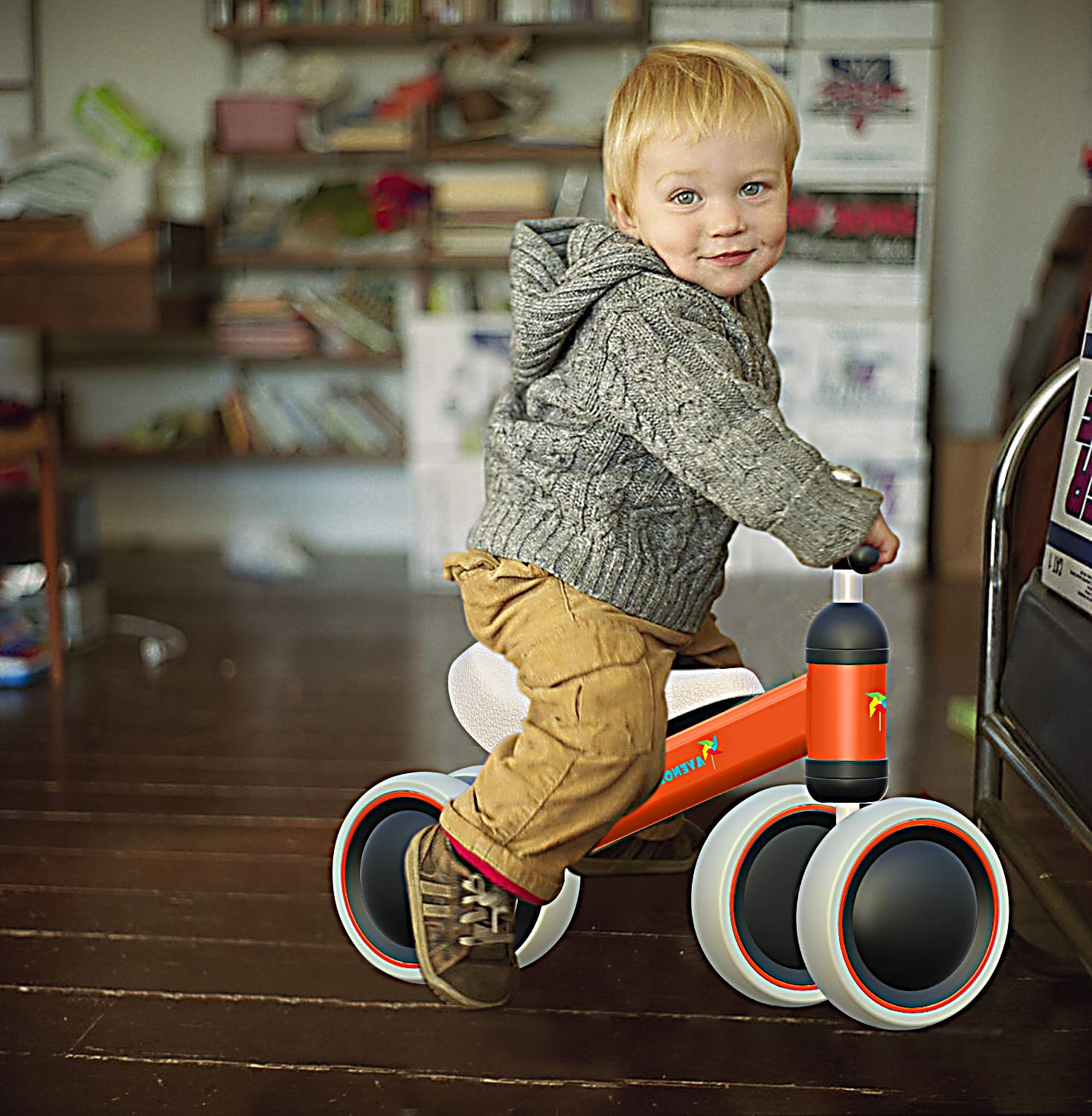 Avenor Baby Balance Bike - Baby Bicycle for 6-24 Months, Sturdy Balance Bike for 1 Year Old, Perfect as First Bike or Birthday Gift, Safe Riding Toys for 1 Year Old Boy Girl Ideal Baby Bike (Orange) by Avenor (Image #6)
