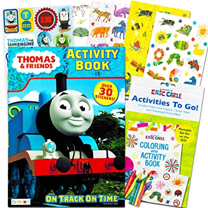 - Amazon.com: Thomas The Train Coloring And Activity Book Set With Over 90  Stickers (2 Books, 4 Sticker Sheets): Toys & Games