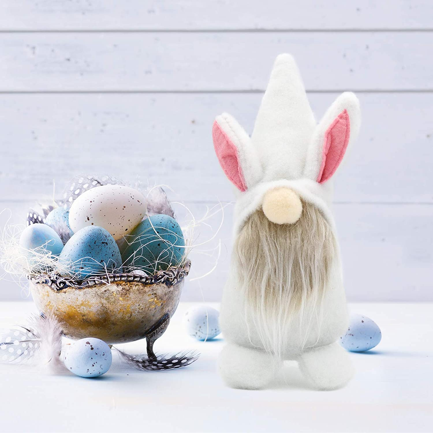 Ornaments Collectible Figurine Rabbit Doll Gifts YRVHCK Easter Gnome Decorations 2Pack Handmade Gnome Faceless Plush Doll Scandinavian Plush Dwarf Easter Bunny Decorations for The Home