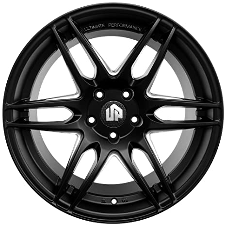 Amazon Com 19 Up620 Staggered 5x114 3 Wheel Set In Matte Black