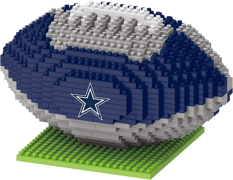 FOCO Dallas Cowboys NFL 3D BRXLZ Football, One Size