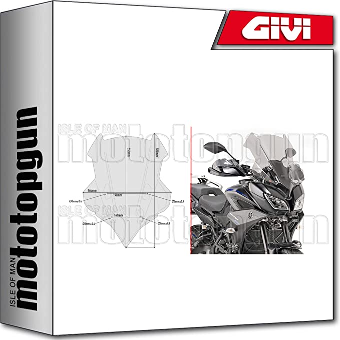 Givi Windschild D2139s Kompatibel Mit Yamaha Tracer 900 2018 18 2019 19 Auto