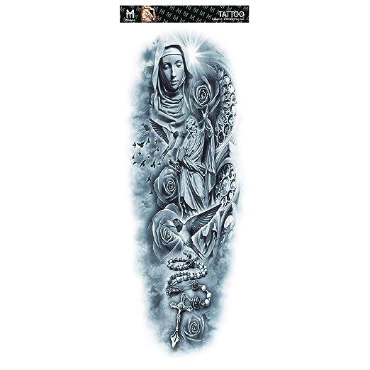 3pcs Full Arm Tattoo Stickers Waterproof Men and Women Big Full ...