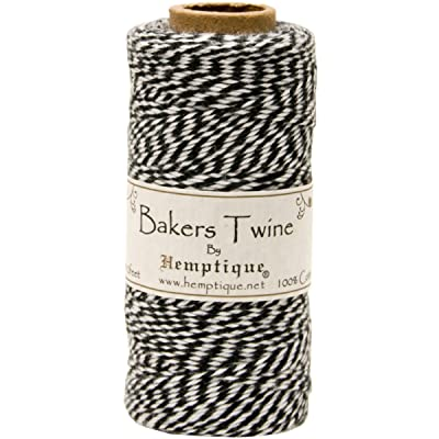 Hemptique Cotton Baker's Twine Spool 2 Ply, 410-Feet, Black: Arts, Crafts & Sewing