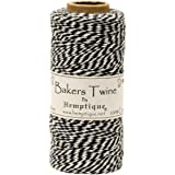 Cotton Baker's Twine Spool 2 Ply 410'/Pkg-Black