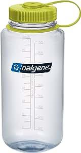 Nalgene BPA Free Tritan Wide Mouth Water Bottle, 1-Quart, Green