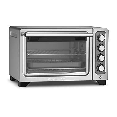 KitchenAid KCO253CU 12-Inch Compact Convection Countertop Oven - Contour Silver