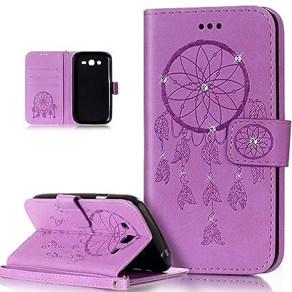 Galaxy Grand NEO Plus carcasa, para Samsung Galaxy Grand NEO, Grand Lite caso, ikasus), diseño de calavera de flores campanula pattern shiny Glitter ...