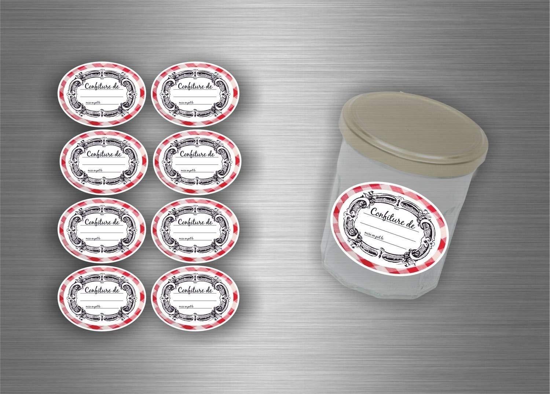 Confezione da 96 etichette adesive per marmellate e conserve Akacha
