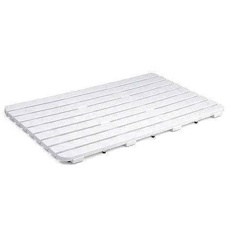 Pedana Per Doccia Plastica.Tatay 5530101 Pedana Doccia Rettangolare 2 5 X 50 X 80 Cm Colore Bianco