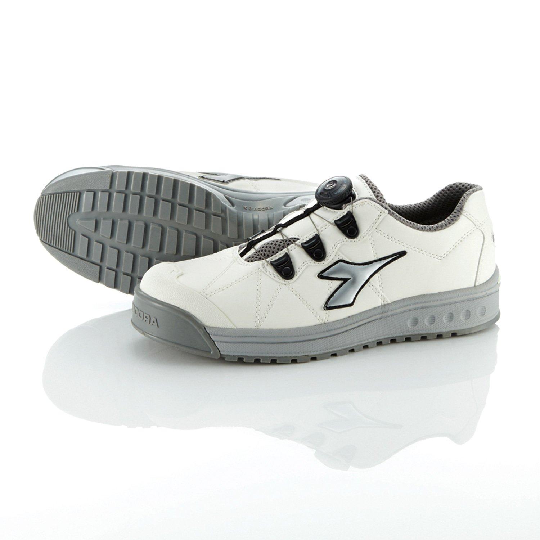 [ディアドラユーティリティ] DIADORA UTILITY 作業靴 スニーカー フィンチ B018XIH6J8 29.0 cm ホワイト&シルバー&ホワイト ホワイト&シルバー&ホワイト 29.0 cm