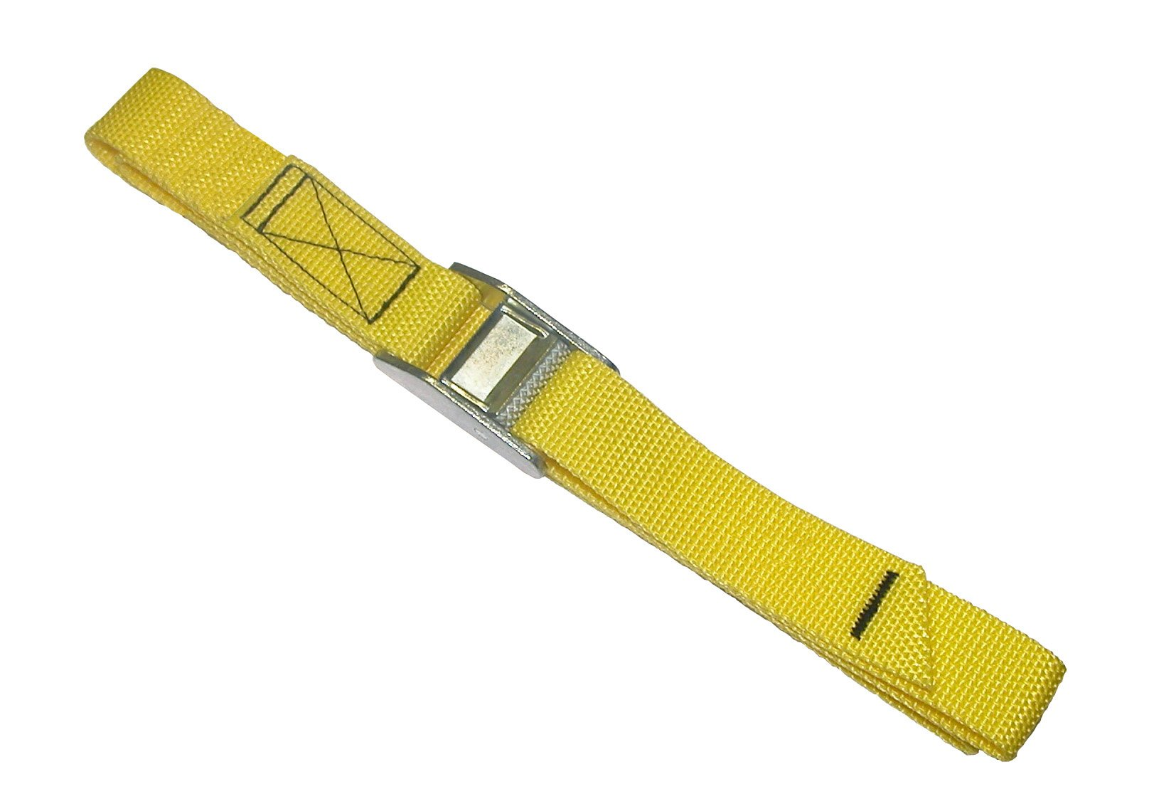 CLC Custom Leathercraft 2WS04 Strap-It Web Tie Down Straps, Yellow, 4-Foot, 2-Pack by Custom Leathercraft