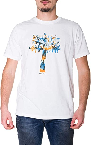 PS by Paul Smith Luxury Fashion Hombre M2R011RAP145301 Blanco T-Shirt   Otoño-Invierno 19: Amazon.es: Ropa y accesorios