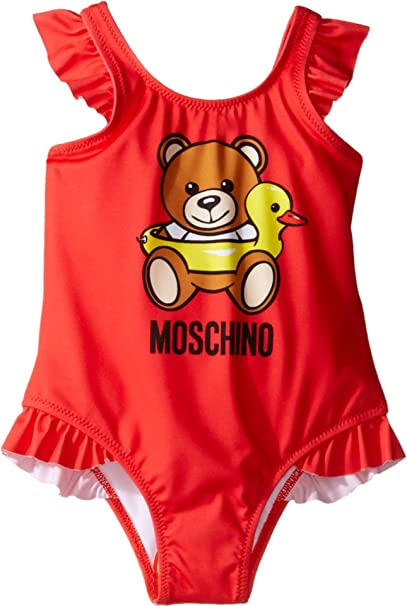 Moschino Kids Baby Girl s Teddy Bear Logo One-Piece Swimsuit (Infant Toddler ) d6946c7266