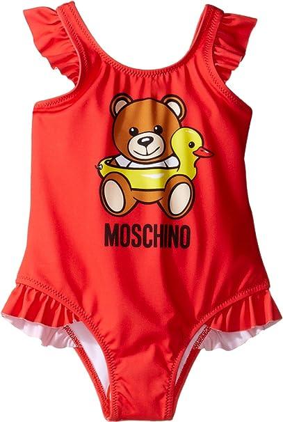 d7a0ca1bdfcda8 Moschino Kids Baby Girl's Teddy Bear Logo One-Piece Swimsuit  (Infant/Toddler)