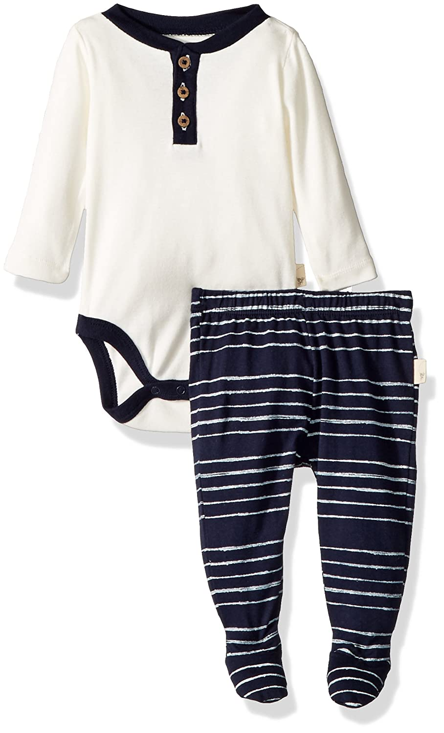 f7853ee18 Burt's Bees Baby Baby Boys Painted Melody Bodysuit and Footed Pant Set,  Midnight, 3-6 Months: Amazon.com.au: Fashion