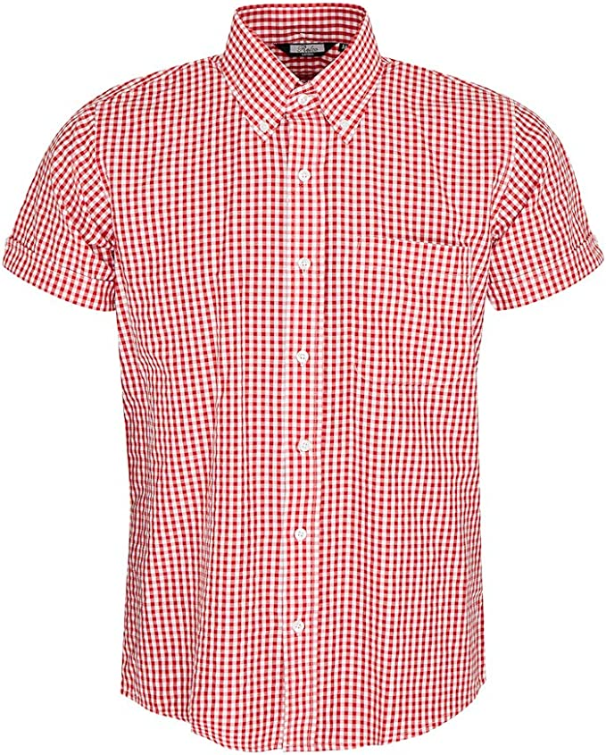 60s 70s Men's Clothing UK | Shirts, Trousers, Shoes Relco Mens Short Sleeve Gingham Mod Shirt £31.99 AT vintagedancer.com
