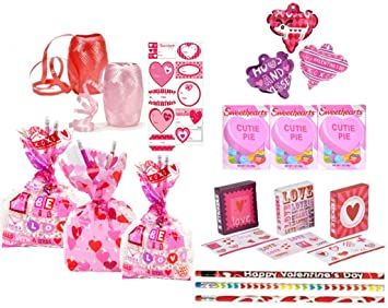Amazon.com: Valentine's Day Pre-Filled Favor Gift Bags! Perfect ...