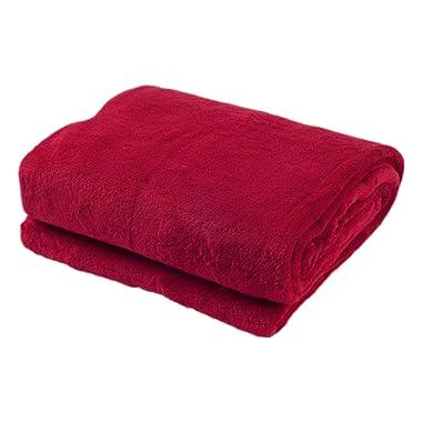 Sofantex Super Soft Reversible Blanket/Throw, 60  L x 80  W, Burgundy