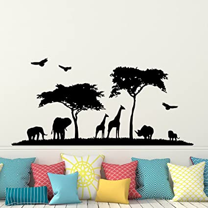 Safari africa wall decal vinyl stickers decals home decor animal wall vinyl decal african safari nursery