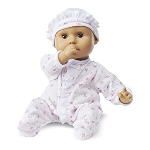 """Melissa & Doug Mine to Love Mariana 12-Inch Baby Doll, Romper and Hat Included, Wipe-Clean Arms & Legs, 12.4"""" H x 7.2"""" W x 4.7"""" L"""