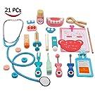YCbingo Holzspielzeug Arzt Set Zahnarzt Kit für Kinder, lustige Zahnarzt vorgibt, Medical Suite Realistische Arzt Suite 21 Stück zu Spielen