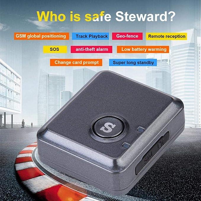 Oumij Mini Rastreador GPS de Tama/ño Peque/ño Chip Mini Rastreador GPS Localizador RF-V8S 4 Niveles de Sensibilidad Dispositivo Rastreador GPS
