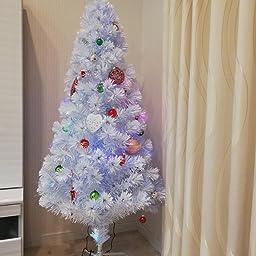 Amazon Life Mart ファイバーツリー クリスマスツリー 光ファイバー イルミネーション 高輝 210cm ホワイト クリスマスツリー おもちゃ