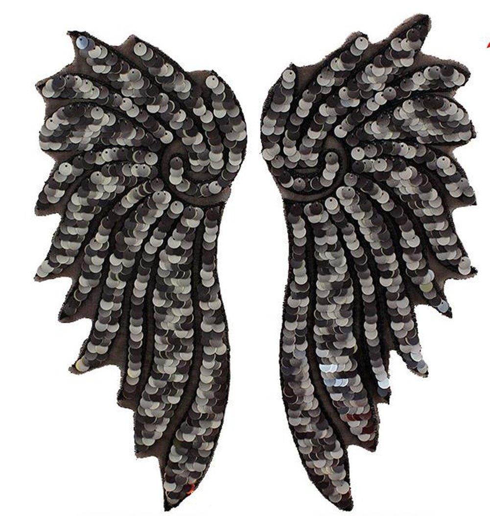 wicemoon alas DIY Fashion gamuza de lentejuelas pasta agujero parche Jersey gorro Ropa Vestido decoración 1par