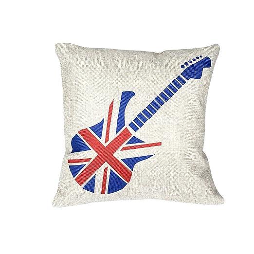 AYYgift Decorativo algodón Lino británico de Bandera Union ...