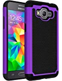 Galaxy J2 Prime Case,Galaxy Grand Prime Plus Case,ANLI(TM)[Shock Absorption] Drop Protection Hybrid Dual Layer Armor Protective Case Cover for Samsung Galaxy J2 Prime/Galaxy Grand Prime Plus Purple