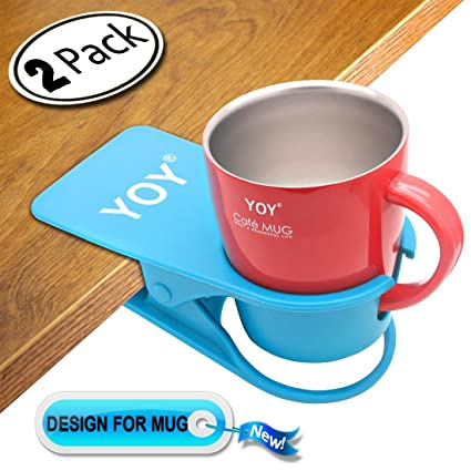 Super Yoy 2 Pack Drink Cup Holder Clip Table Desk Side Water Glass Beer Bottle Beverage Soda Coffee Mug Holder Cup Saucer Clip Design For Home Office Alphanode Cool Chair Designs And Ideas Alphanodeonline