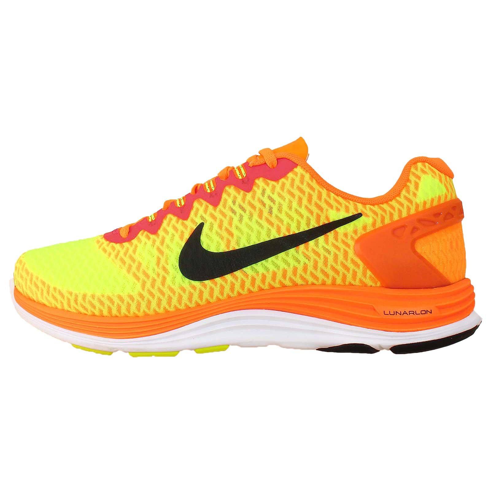 premium selection 0a786 37bb4 NIKE Lunarglide+ 5 Swift Bright Citrus Volt (648543-800) Mens Shoes