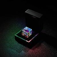 20mm/23mm Optical Glass Crystal Combiner Prism X Cube RGB Dispersion Splitter w/Blue Shinning Box - 23mm