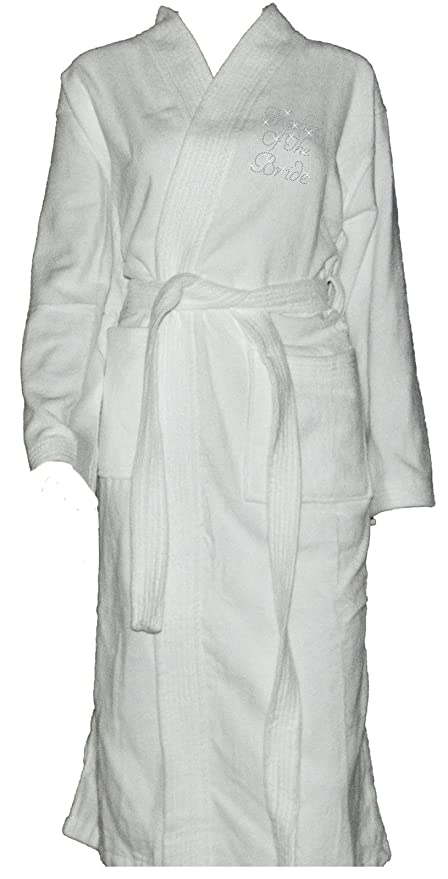 Varsany Spa Mother of the Bride Bridal Bathrobe Rhinestone Towel ...