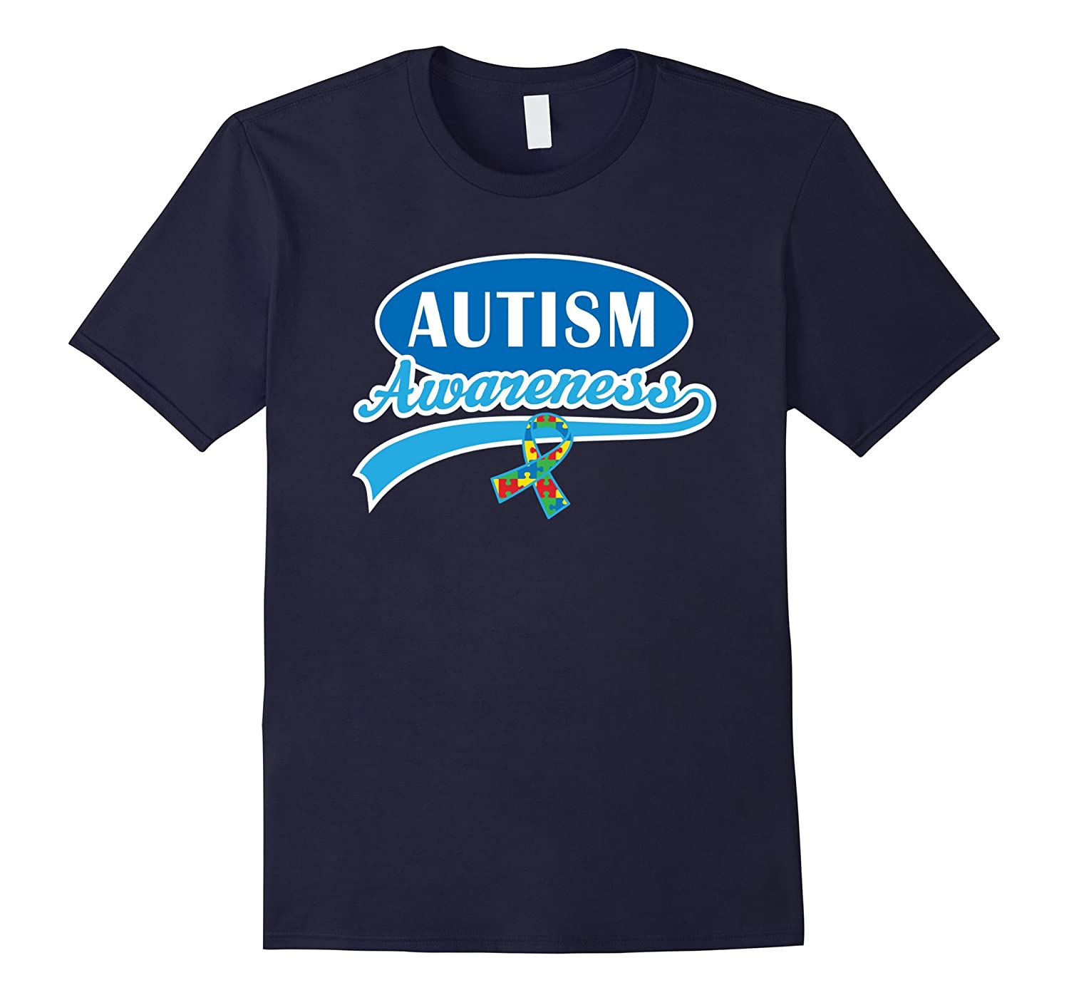 Autism Awareness T-shirt Puzzle Ribbon Support Walk Tee-RT