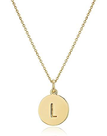 15e67aa0e kate spade new york Gold-Tone Alphabet Pendant Necklace, 18