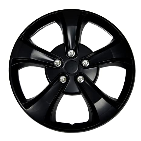 Amazon.com: TuningPros WSC-616B15 Hubcaps Wheel Skin Cover 15-Inches Matte Black Set of 4: Automotive
