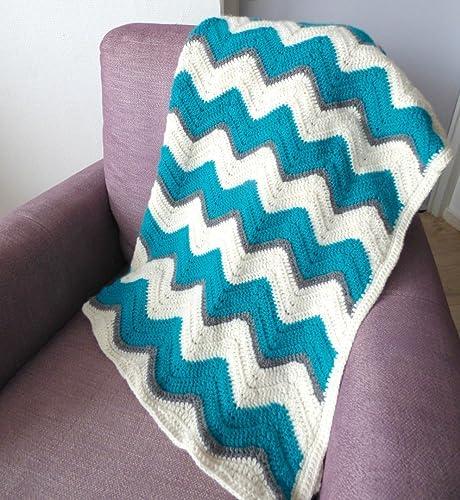 Amazon Crochet Afghan Chevron Throw Lap Blanket Christmas