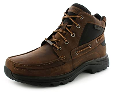 aca6ea4f801d New Mens Gents Chocolate Rockport Fitch Lace Up Waterproof Boots. -  Chocolate - UK