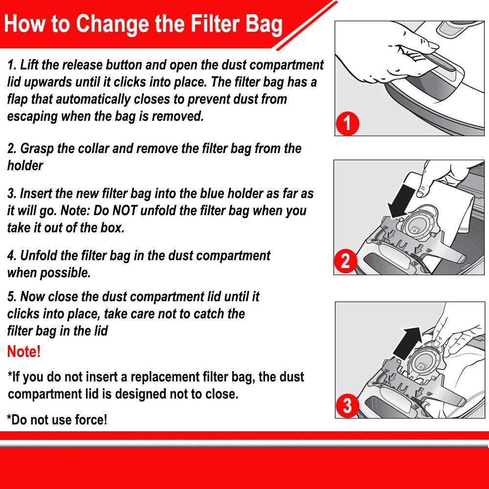 Home Gurus Miele-Vacuum-Bag Type FJM Compatible with Miele HyClean-3D-Efficiency Microfiber Dust Bag Vacuum Cleaner 4 Bags+1 Motor Filter+1 Air Clean filter