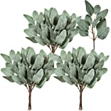 """18 Pcs Artificial Eucalyptus Greenery Stems Silk Eucalyptus Leaves Spray Faux Eucalyptus Branches Sprigs in Grey Green for Wedding Bouquets Centerpiece Greenery Décor Floral Arrangement 11.8"""" Tall"""